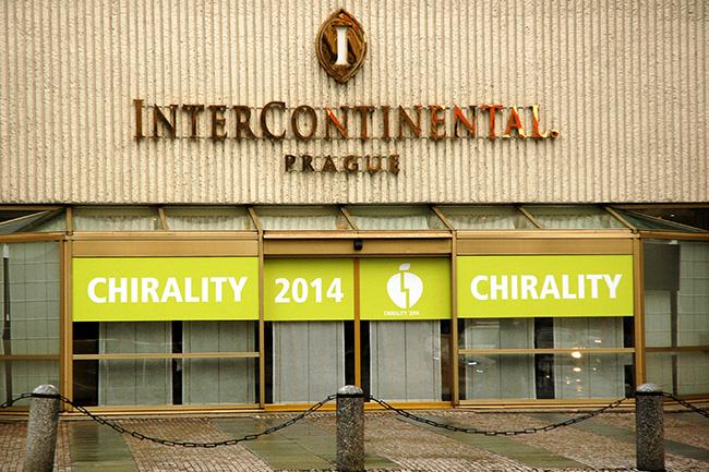 Branding na hotelu Intercontinental (Praha) pro kongres CHIRALITY